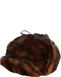 Albertus Swanepoel Faux Fur Iorek Trapper Hat Brown