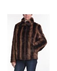 Parkhurst Reversible Faux Fur Jacket Chestnut