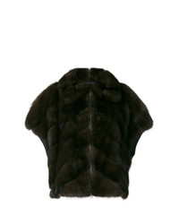 Short sleeve fur jacket medium 8264974
