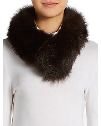 Saks fifth avenue fox fur collar medium 144051