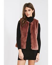 Forever 21 Classic Faux Fur Vest