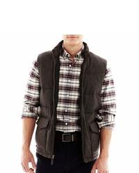 Claiborne Tweed Puffer Vest