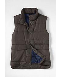 Classic Puffer Vest Gray Micro Herringbonexxl