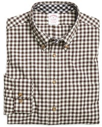 Brooks Brothers Regular Fit Flannel Gingham Sport Shirt