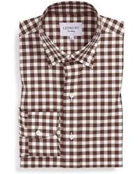 Ledbury Slim Fit Check Poplin Dress Shirt