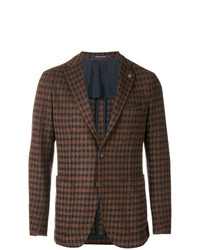 Tagliatore Checked Fitted Blazer