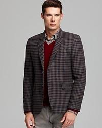 Vince Soft Wool Check Blazer