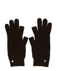 Rick Owens Brown Mohair And Alpaca Touchscreen Gloves