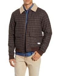 Dark Brown Harrington Jacket