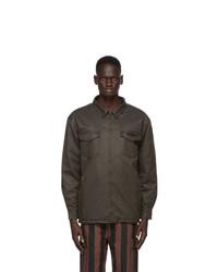 032c Brown Waxed Military Shirt