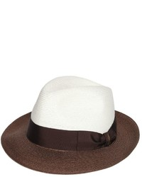 Borsalino Bicolor Hemp Medium Brim Hat