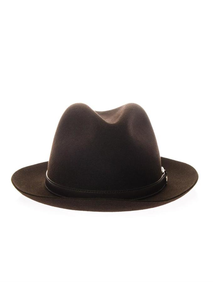 d593b5778 ... Gucci Fedora Rabbit Felt Narrow Brimmed Hat ...