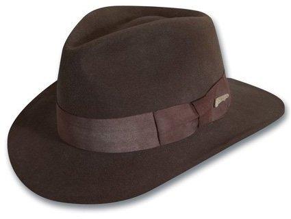 ... Dorfman Pacific Indiana Jones Wool Felt Water Repellent Outback Fedora  With Grosgrain 17c5e7d4801