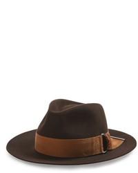 Rico buckle brim fur felt hat brown medium 5264699