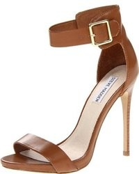 Dark brown heeled sandals original 2460327