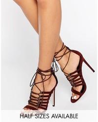 Hurricane lace up heeled sandals medium 805121