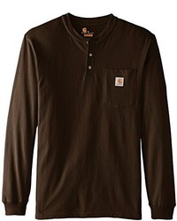 Dark Brown Henley Shirt