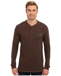 U.S. Polo Assn. Long Sleeve Slub Henley Pullover