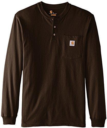 f18e8f4f1e1e7e ... Shirts Carhartt Workwear Pocket Henley Midweight Jersey Long Sleeve T  Shirt