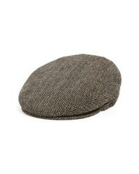 Bailey Lord Herringbone Wool Driving Cap