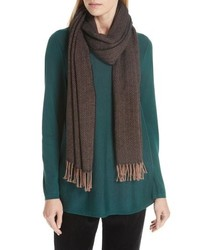 Eileen Fisher Herringbone Cotton Knit Scarf