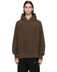 Engineered Garments Brown Fleece Raglan Hoodie