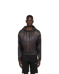 Off-White Brown Pleated Hoodie
