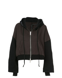 Unravel Project Two Tone Cropped Hoodie