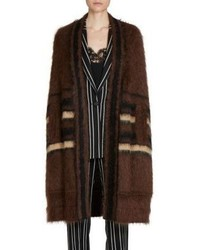 Givenchy Striped Mohair Long Cape
