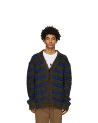 Marni Brown And Navy Mohair Cardigan