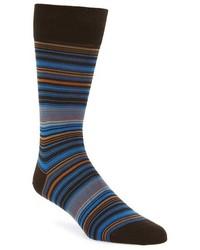 Bugatchi Alternating Thin Stripe Socks