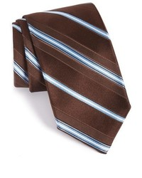 Dark Brown Horizontal Striped Tie