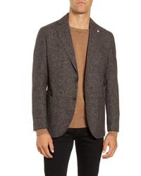 L.B.M. Lbm Fit Houndstooth Wool Sport Coat