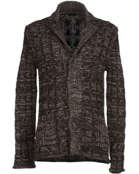 Dark Brown Knit Cardigan