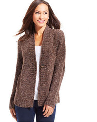Dark Brown Knit Cardigans for Women | Women's Fashion