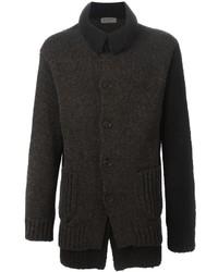 Yohji Yamamoto Layered Chunky Knit Cardigan