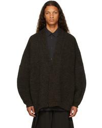Jan Jan Van Essche Brown Wool 53 Cardigan