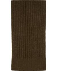 Maison Margiela Green Wool Knit Scarf
