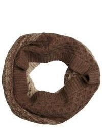 Hayden Light And Dark Brown Waffle Knit Cashmere Infinity Scarf