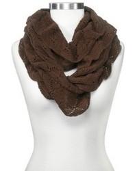 Sylvia Alexander Knit Ruffled Infinity Scarf