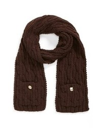 Vince Camuto Cable Knit Scarf Brown One Size One Size