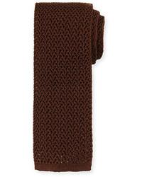 Tom Ford Silk Knit Flat End Tie