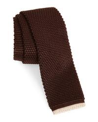 Brunello Cucinelli Tipped Knit Skinny Silk Tie