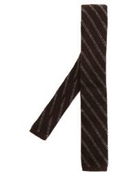 Eleventy Striped Knit Tie