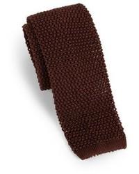 Solid silk knit tie medium 342508