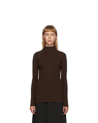MM6 MAISON MARGIELA Brown Button Turtleneck