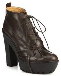 Dark brown lace up ankle boots original 9286898