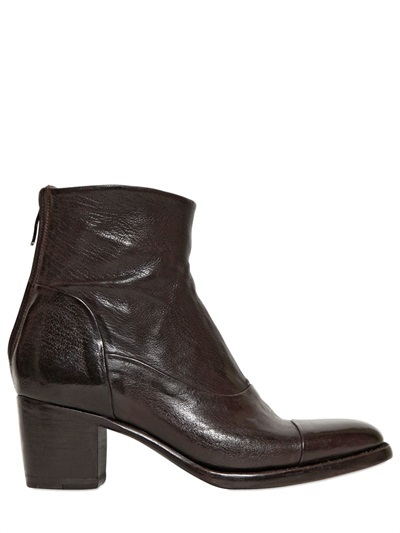 alberto fasciani 60mm buffalo leather ankle boots where to buy how to wear. Black Bedroom Furniture Sets. Home Design Ideas