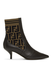 Fendi Brown Forever Rockoko Boots