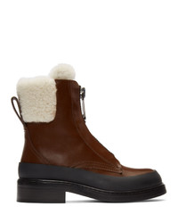 Chloé Brown Roy Ankle Boots